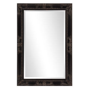 Queen Ann Rectangular Black Mirror