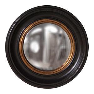Albert Black Round Mirror