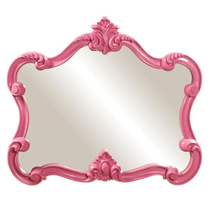 Veruca Pink 2-Inch Rectangle Mirror