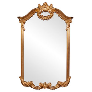 Roman Gold Rectangle Mirror