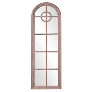 Daydreamer Aged Taupe Arched Mirror