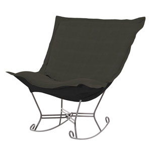 Sterling Charcoal Puff Rocker with Titanium Frame