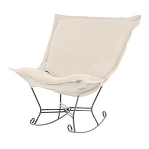 Sterling Sand Puff Rocker with Titanium Frame