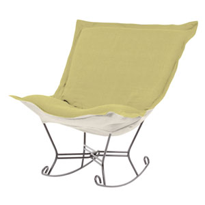 Sterling Willow Puff Rocker with Titanium Frame