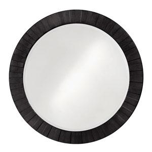 Serenity Black 1-Inch Round Mirror