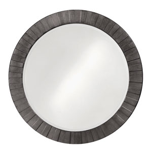 Serenity Charcoal Gray 1-Inch Round Mirror