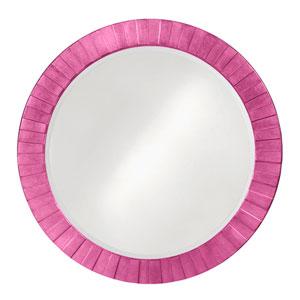 Serenity Hot Pink Round Mirror