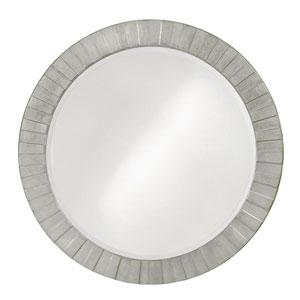 Serenity Glossy Nickel Round Mirror