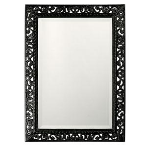 Bristol Glossy Black Rectangle Mirror