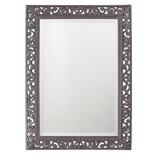 Bristol Glossy Charcoal Gray Rectangle Mirror