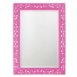 Bristol Glossy Hot Pink Rectangle Mirror
