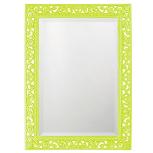 Bristol Glossy Moss Green Rectangle Mirror