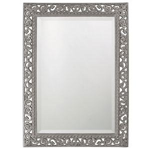 Bristol Glossy Nickel Rectangle Mirror