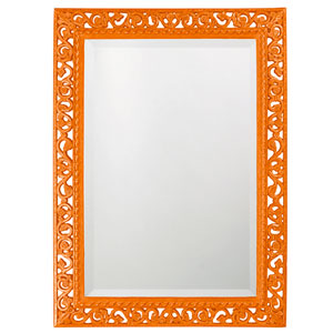 Bristol Glossy Orange Rectangle Mirror