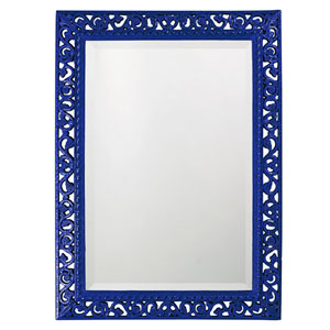 Bristol Glossy Royal Blue Rectangle Mirror