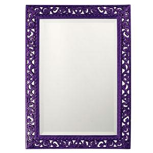 Bristol Glossy Royal Purple Rectangle Mirror