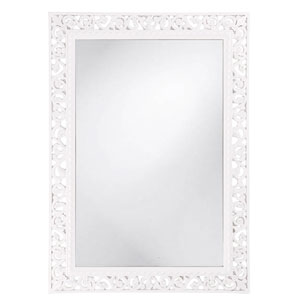 Bristol Glossy White Rectangle Mirror