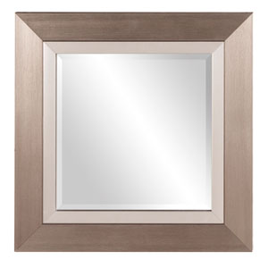 Brushed Silver Square Mirror