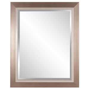 Brushed Silver Rectangle Mirror