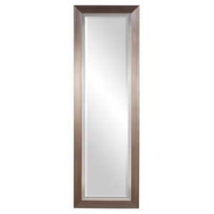 Brushed Silver Tall Rectangle Mirror