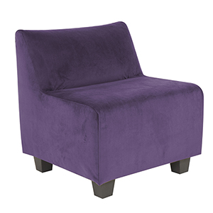 Shop Purple Or Eggplant Accent Chair Bellacor