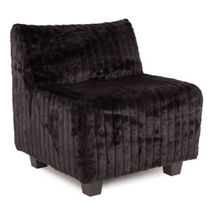 Pod Mink Black Chair
