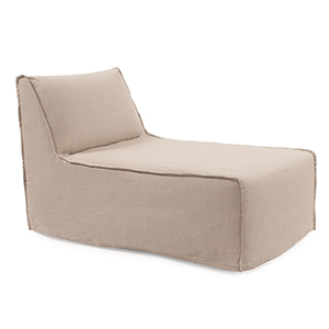 Pod Chair Lounge Prairie Linen Natural