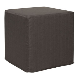 Sterling Charcoal Tip Block Ottoman