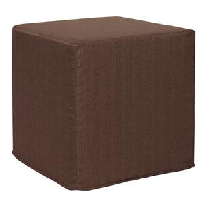 Sterling Chocolate Tip Block Ottoman
