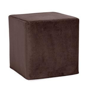 Bella Chocolate Tip Block Ottoman