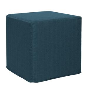 Sterling Indigo Tip Block Ottoman