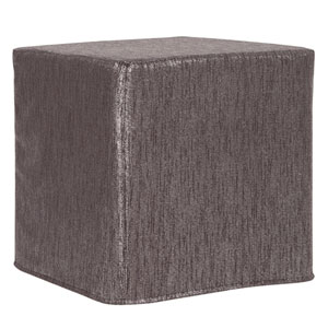 Glam Zinc Tip Block Ottoman