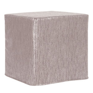 Glam Pewter Tip Block Ottoman