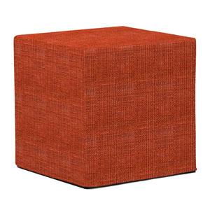 Coco Coral Tip Block Ottoman