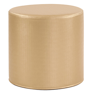 Luxe Gold No Tip Cylinder Ottoman