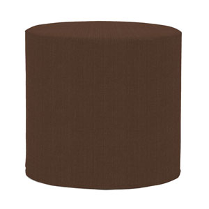 Sterling Chocolate Tip Cylinder Ottoman