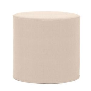 Sterling Sand Tip Cylinder Ottoman