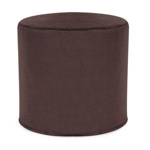 Bella Chocolate Tip Cylinder Ottoman