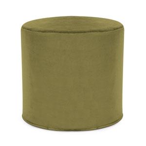 Bella Moss Green Tip Cylinder Ottoman
