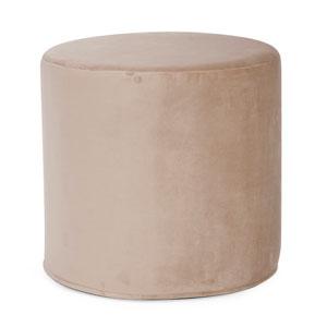 Bella Sand Tip Cylinder Ottoman
