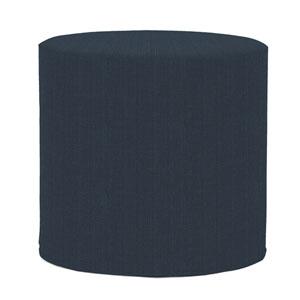 Sterling Indigo Tip Cylinder Ottoman