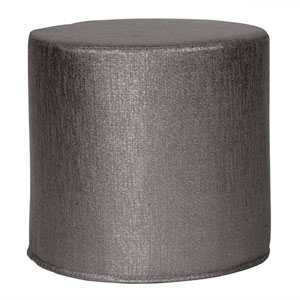Glam Zinc Tip Cylinder Ottoman