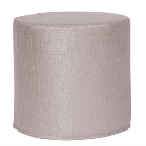 Glam Pewter Tip Cylinder Ottoman