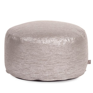 Glam Pewter Foot Pouf Ottoman