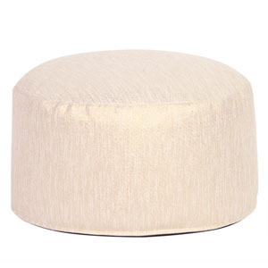 Glam Snow Foot Pouf