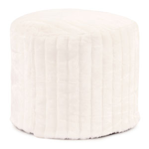 Mink Snow Tall Pouf