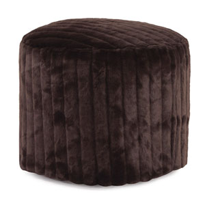 Mink Brown Tall Pouf