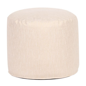 Glam Snow Tall Pouf