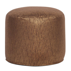 Glam Chocolate Tall Pouf