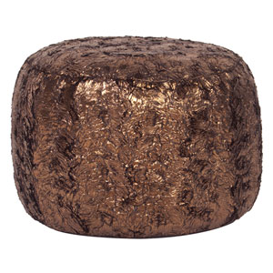 Gold Cougar Tall Pouf